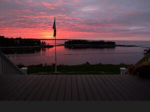 Sunrise at the Grey Havens Inn, Georgetown, ME