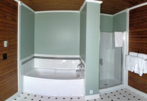 Bay View Turret Bath - View 2 -- The Bay View Turret has a private bath with both a tub and shower.