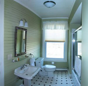 The Birch Room Bath -- Private bath with tub/shower.