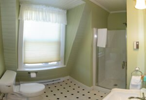 The Oak Room Bath -- The Oak Room has a private bath with shower.
