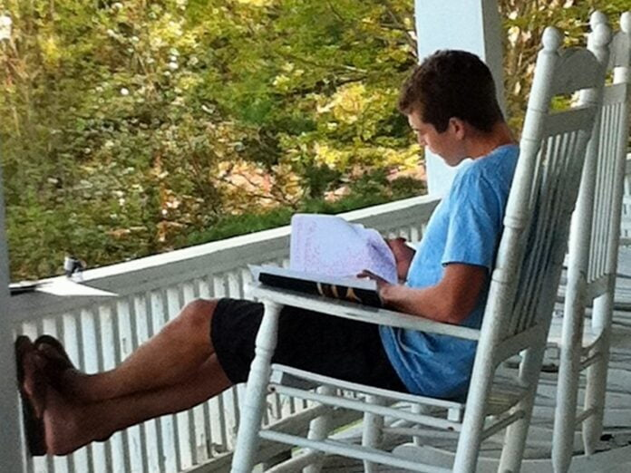 Reading and Relaxing in Maine