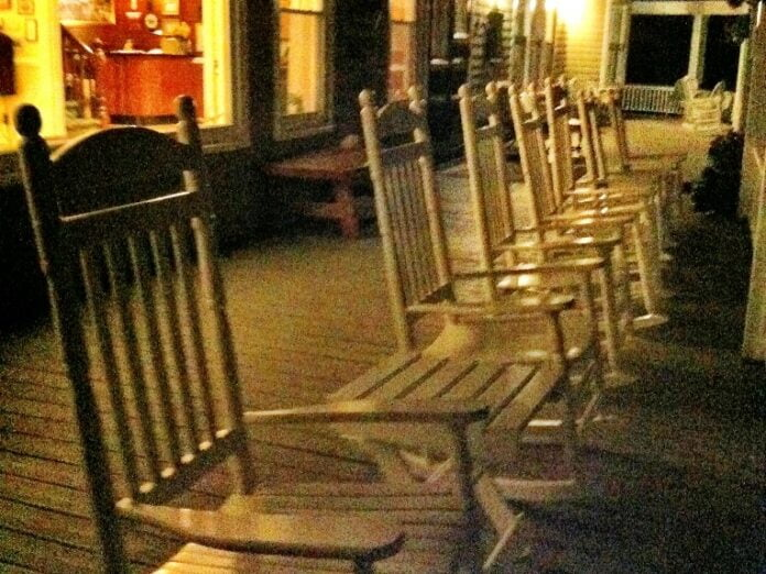 A peaceful evening on our Wraparound Porch