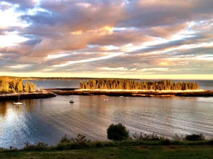 View from Grey Havens Inn, an oceanfront Maine Inn.