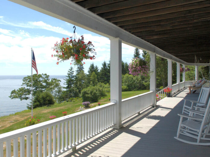 Wraparound Porch - Grey Havens Inn