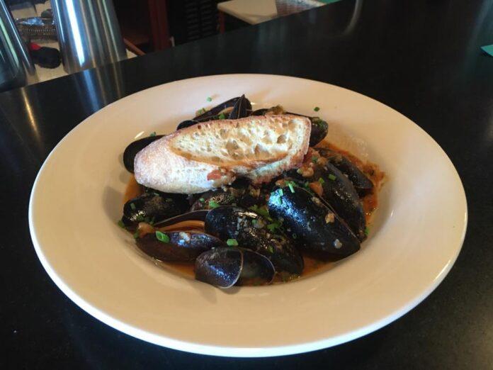 Mussel dish at Blue Restaurant.