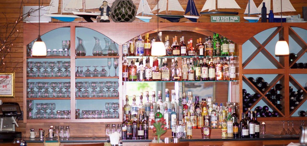 the bar at blue.