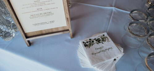 napkins for wedding reception