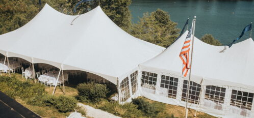 tent for wedding reception