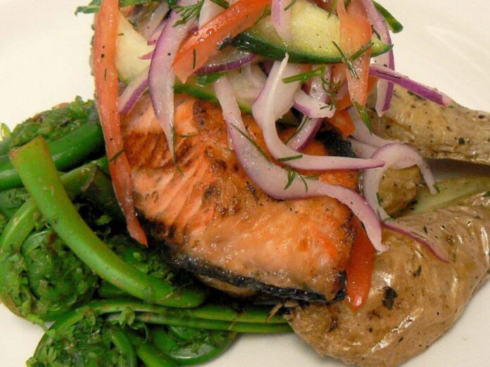 A seafood entree at Blue Restaurant at Grey Havens