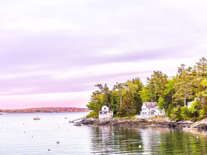 The beach at Boothbay Harbor: a 5-Day Maine Coast Itinerary.