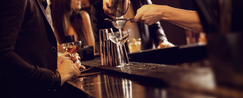 Bartender Making a Cocktail Drink